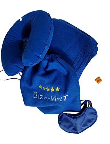 Fleece Travel Blanket Larger than Average 51x70 inches bu...
