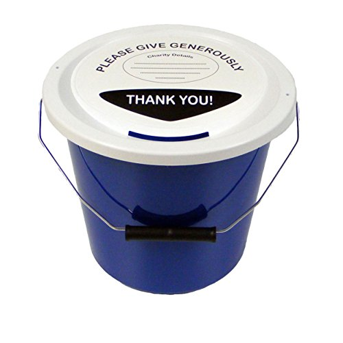Collection Bucket - Charity Money Collection Bucket 5 Litres - Blue