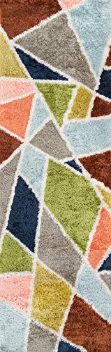 Novogratz Retro Collection Prism Shag Area Rug,
