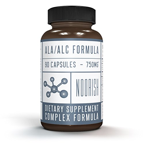 225 Mg 100 Capsules - Acetyl L-Carnitine with Alpha Lipoic Acid - ALA ALC ALCAR - Alpha Lipoic Acid with Acetyl L-Carnitine - 525 mg ALCAR - 225 mg ALA - 90 capsules
