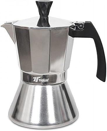 Cafetera de inducción 6, 9 y 12 tazas cafeteras clásicas italianas, aptas para todo tipo de cocinas.THULOS TH-CI (12 ...