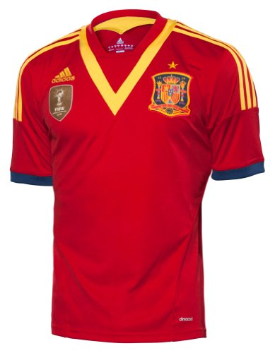 adidas Spain 2012 Home UniverRed/RealBlue/RougUnive/Bleur El Jersey-L Adidas Spain Youth Home Jersey