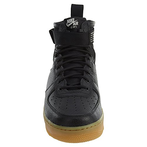 101 Black Light Scarpe 917753 Bianco in Black e Tessuto 1 Brown Air gum Wmns Pelle Mid Uomo SF Nike Force 6xwZCU11q