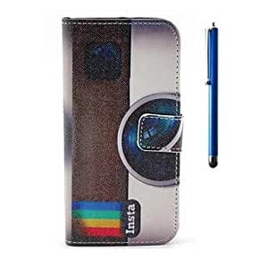 GX 4.7 Inch Cassette Pattern PU Wallet Leather Case and Pen for iPhone 6