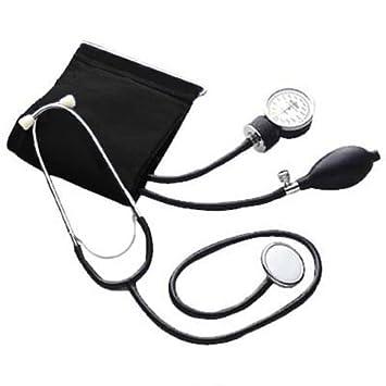Pharmedics - Estetoscopio y tensiómetro de brazo con pera, color negro: Amazon.es: Salud y cuidado personal