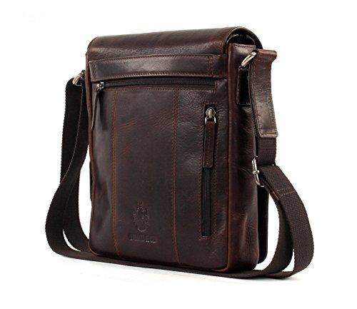 LEONHARD HEYDEN Roma Messenger Bag S Dark Brown