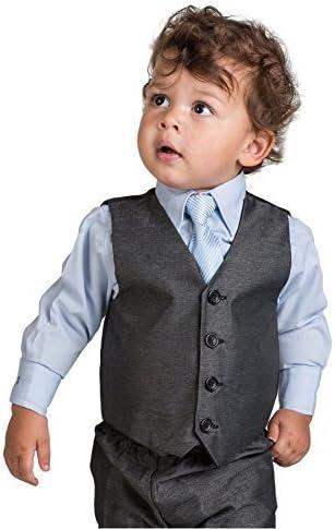 Traje para niños pequeños de color gris y azul, de Paisley of ...