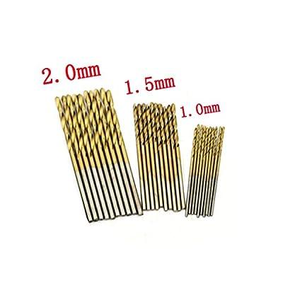 Your Supermart 50PCS Micro Round Shank Drill Bit Set HSS Small Precision Twist Drill