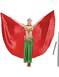 c33617ca1 14 Colors Belly Dance Wing with Rods–360 Degree Isis Angel Wings with  Portable Telescopic