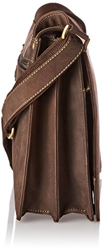 Visconti Harvard Distressed Leather Messenger Bag, Tan, One Size by Visconti (Image #2)