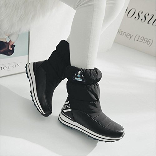 Boots Flat Leisure Black Fall Womens slip White Keep Comfortable Down Winter Warm Outdoor Red EUR39UK665 Cloth Non Snow waterproof NVXIE wvYSqq