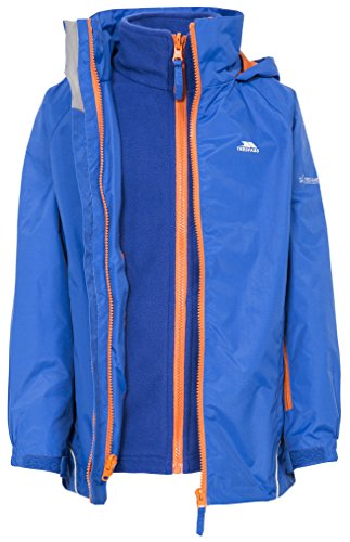 Rockcliff Kids 3 In 1 Waterproof Jacket Raincoat For Boys and Girls by Trespass