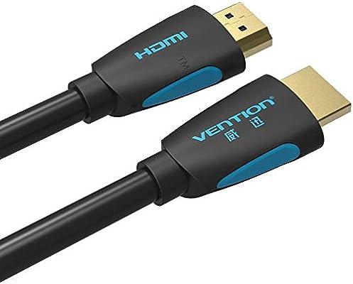 SINAM - Cable HDMI a HDMI (5 m, HDMI 2.0, 4 K, 3D, 1080p, para ...