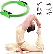 MOOZHEALTH Pilates Ring Yoga Magic Circle - 14 Inch Fitness Ring Exercise Resistance Equipment for Toning Work