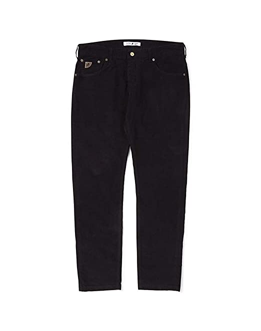 Lois Hombre Sierra Negro Aguja Pantalón de Pana W32 L32 ...