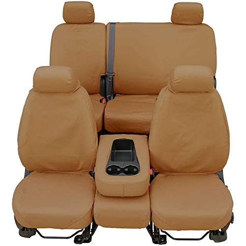 (Covercraft Front/Rear Set of Seat Covers Tan for 2012-2016 Ford F-250 with 59.75