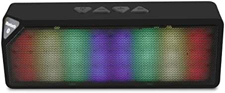 LB1 High Performance Wireless Speaker for Apple iPhone iPad Android Smartphone and Tablet Colorful LED Light Pulse Dual-Speaker Support Handsfree TF AUX FM Radio