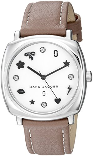 'Mandy' Quartz Stainless Steel and Leather Casual Watch, Color Brown (Model: MJ1563) ()