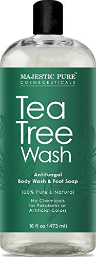 Antifungal Tea Tree Body Wash, Helps Nail Fungus, Athletes F