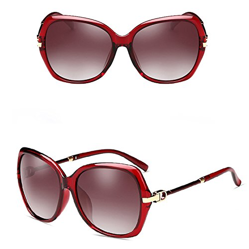 Rojo De Nuevas De Sol De Color Gafas LIUXUEPING UV Personalidad Rojo Gafas Gran Sol Marco UwxqpdO