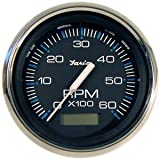 Chesapeake SS Tachometer with Hourmeter, 6K, 4'' For Inboard - Faria