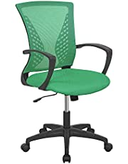Office Chair Ergonomic Desk Chair Mesh Computer Chair with Lumbar Support Armrest Mid Back Rolling Swivel Adjustable Task Chair