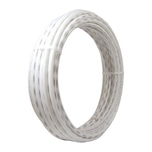 White Tubing Pex (SharkBite U855W100 PEX Pipe 3/8 Inch, Flexible Water Tube, Pot, 100 Foot, White)