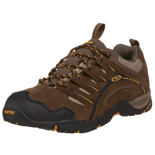 Hi Tec Waterproof Heels - Hi-Tec Men's Auckland Waterproof Sneaker,Moss/Brown/Gold,12 M