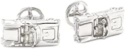 ROTENIER Novelty Sterling Silver 1950's Car and Wheel Cufflinks