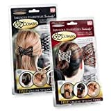 4 EZ Combs Set Bronze, Silver, black and sandlewood