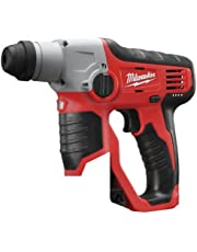 Milwaukee M12H-0 M12 Compact SDS 2 Mode hamer, 12 V, Red & Black