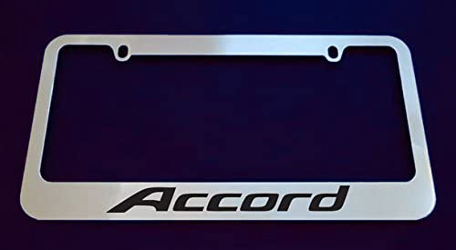 Auto Accessory Chrome License Plate Frame SIMPLY CLEAN CURSIVE