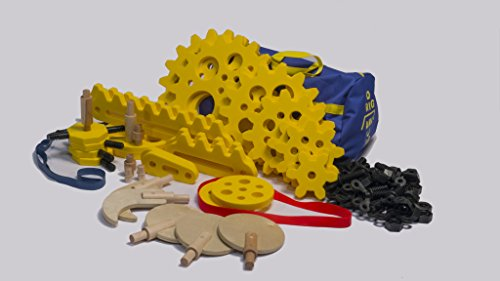 Rigamajig Simple Machines Add-On Kit to Build onto Basic Builder and get Hands-on Practice with Gears, axels, levers, and Other Simple Machines. Great for STEM Education. Ages 3+ by Rigamajig (Image #1)