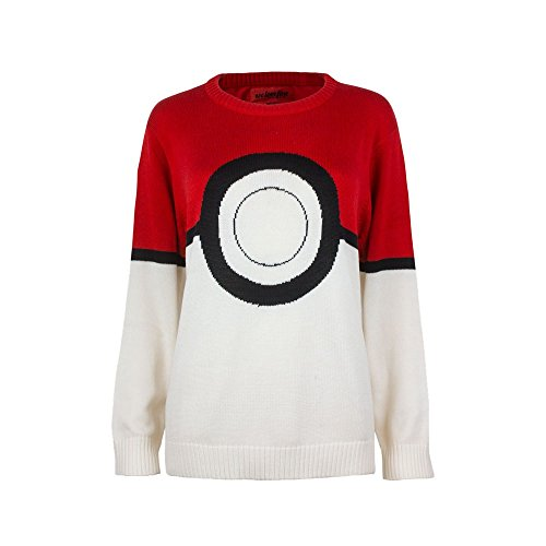 Pokemon I Am Pokeball Knit Pullover Sweatshirt | XL