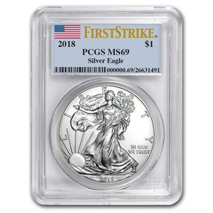 2018 Silver Eagle $1 MS69 PCGS/CAC