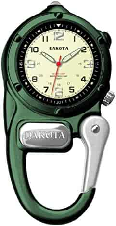 Dakota 3806-6 Mini Clip Microlight Watch, Green