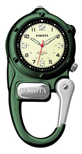 Dakota 3806-6 Mini Clip Microlight Watch, Green ()