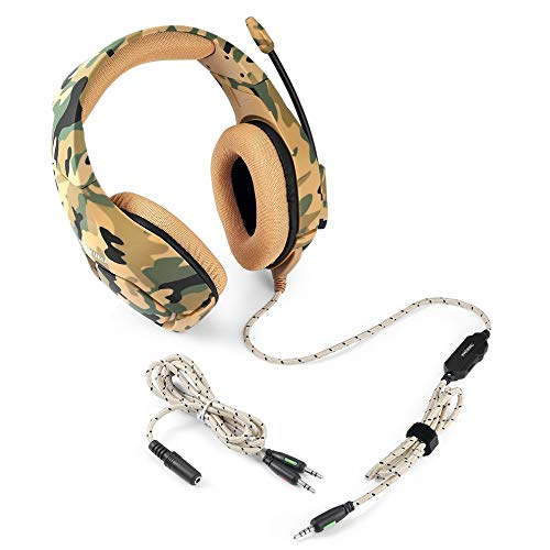 E.I.H. Stereo Music Gaming Headset with Mic K1B Camouflage Design Stereo Music Gaming Headset with Mic Over-Ear Headphone Earphone for PS4 for Xbox ONE
