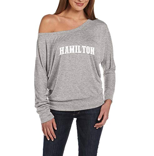 Hamilton City Ontario Canada Traveler Gift Women's Flowy Long Sleeve Off Shoulder Tee (XSAHG)]()