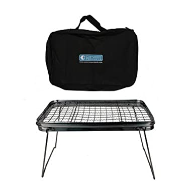 Camping Grill - Portable Compact Scout Outdoor Grill (16.5  X 10.5 ) - Weighs Just 2.5 Lbs and Includes Carrying Bag