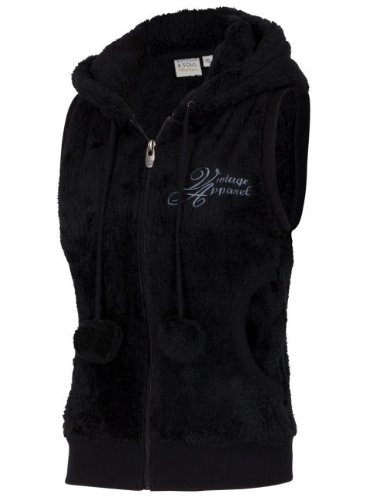 Stitch & Soul D2004N82220B3 - Sweat-Shirt - sans Manche - Femme Black