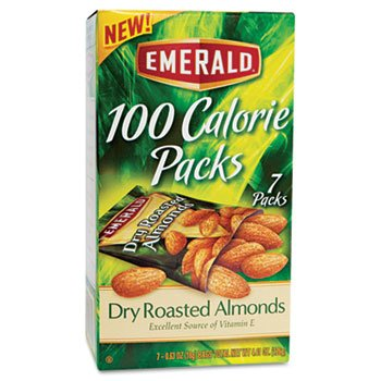 DIAMOND FOODS, 100 Calorie Pack Dry Roasted Almonds, .63oz Packs, 7/Box