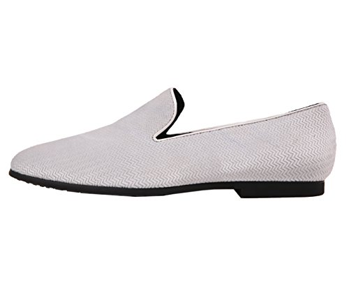 White Slip Chinese Smoking On Slipper Chevron Nightclub Loafer Chester Shoe Dress Velvet Amali Mens Style x6q4w1A4