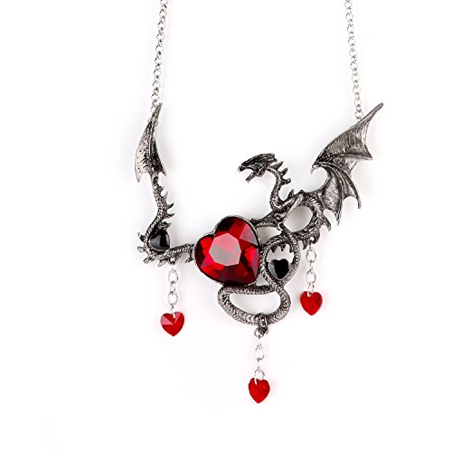 (Game Of Thrones Jewelry Necklace - Perfect Jewelry Choice For Halloween, Concerts, Theme Parties and Collection (Red) )
