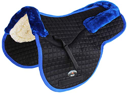 St. Charles Horse Quilted English Saddle PAD Trail Contour Fleece Lined 72112