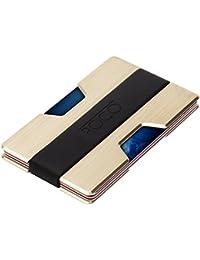 MINIMALIST Aluminum Slim Wallet RFID BLOCKING Money Clip...