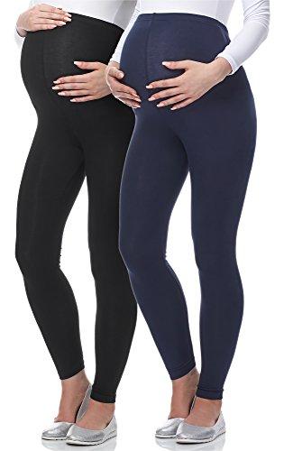 Mammy Leggings Lunghi Nero Scuro Blu Set Be Premaman da 2 02 p6xwHHT