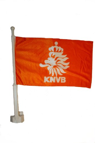 "Price comparison product image Holland Netherlands KNVB Orange Country Heavy Duty Car Stick Flag 12""x18"" .. Fifa Soccer Football World Cup... New"