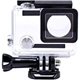 Yimobra Waterproof Housing Case for Gopro Hero 4 3+ Protective 131FT/40M Underwater Photography Dive Hero Transparent (Presented One More Clip)