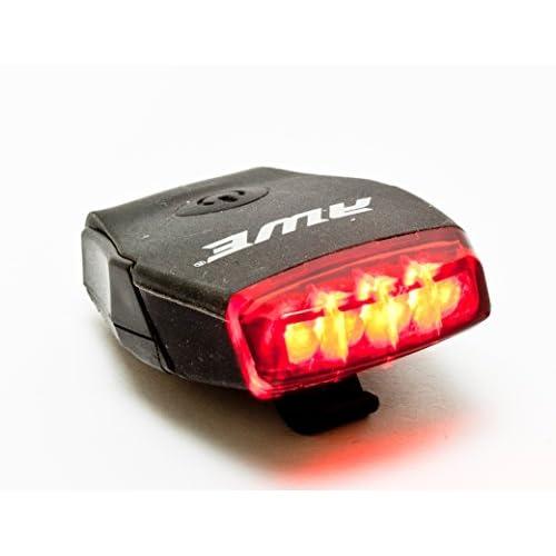 AWE® AWEMicro™ Vélo rechargeables Silicone USB 2.0 4 feux arrière LED noir 20 Lumens